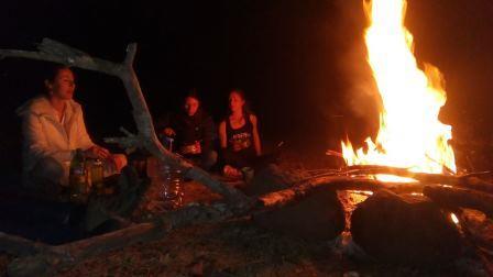 Campsite fire, Kenya safaris